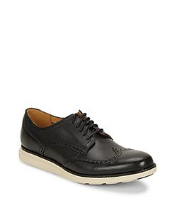 Cole Haan   Wingtip-Toe Leather Oxfords