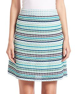 M Missoni | Triangle-Striped A-Line Skirt
