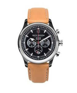 Jack Mason | Nautical Pvd Tt Italian Leather Strap Watch