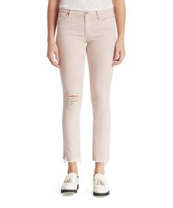 Mother | Rascal Distressed Straight-Leg Ankle Snippet Jeans