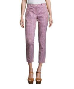 Michael Kors Collection   Checked Cotton Pants