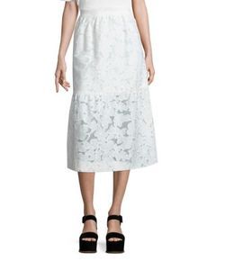 Mother Of Pearl   Shelly Fit Flare Skirt