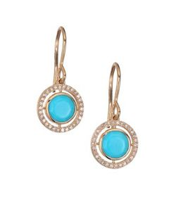 Astley Clarke | Biography Celestial Turquoise Diamond 14k Yellow Golddrop Earrings