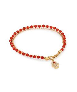 Astley Clarke | Biography Red Agate White Sapphire Hamsa Beaded Friendship Bracelet