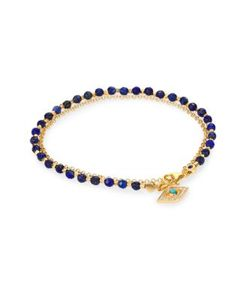 Astley Clarke | Biography Lapis Turquoise Diamond Evil Eye Beaded Friendship Bracelet