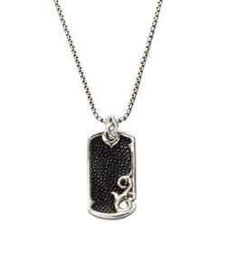 Stephen Webster | Leather Silver Dogtag Necklace