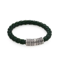 Stephen Webster | Sterling Silver Woven Rubber Bracelet