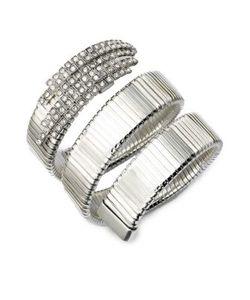 Ca & Lou | Snake Pave Crystal Coil Bracelet