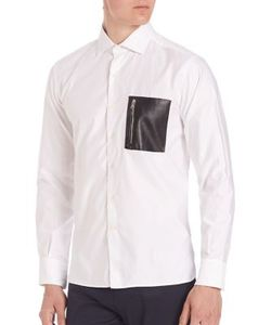 Ovadia & Sons   Soho Leather Pocket Shirt