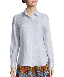 WEEKEND MAX MARA   Crespo Beaded Linen Shirt