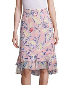 See by Chloé   Tropical Print Silk Skirt
