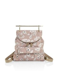 M2malletier | Flower-Print Leather Backpack