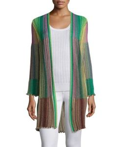 M Missoni | Multi-Toned Plisse Cardigan
