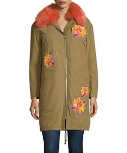 Army Yves Salomon | Fur-Lined Patch Cotton Coat