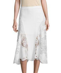 Jonathan Simkhai | Lace Applique Fla Skirt