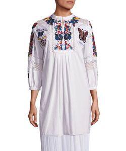 Valentino | Embroide Beaded Cotton Tunic