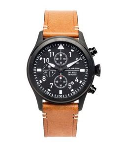 Jack Mason | Aviation Chronograph Pvd Leather Strap Watch