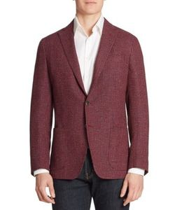 Saks Fifth Avenue Collection | Single-Breasted Wool Silk Blend Blazer