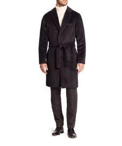 Ovadia & Sons   Woolen Belted Waist Top Coat