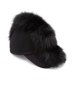 House Of Lafayette   Wool Fox Fur Baseball Cap