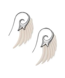 Noor Fares | Fly Me To The Moon Ivory Wing Earrings
