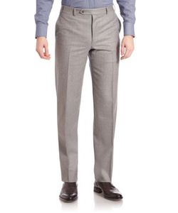 Canali | Light Flannel Trousers