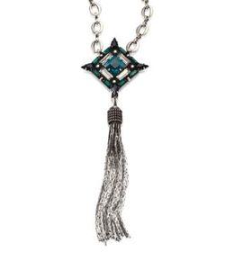 Dannijo | Liv Crystal Tassel Necklace