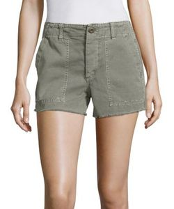 Amo | Frayed Cotton Army Cargo Shorts