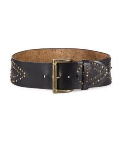Ralph Lauren Collection | Studded Leather Belt
