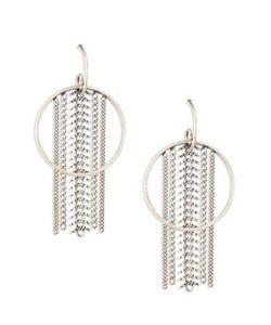 Dannijo | River Chain Fringe Hoop Earrings/2