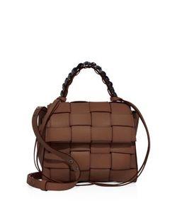 Elena Ghisellini | Angel Medium Woven Leather Top-Handle Satchel