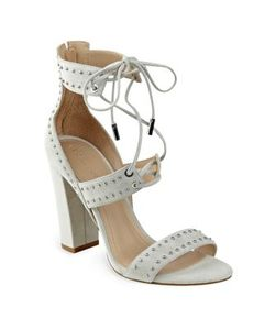 Kendall and Kylie   Dawn Studded Suede Lace-Up Sandals