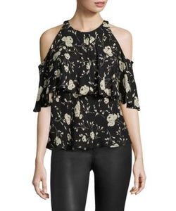 Polo Ralph Lauren | Cold-Shoulder Silkprint Blouse