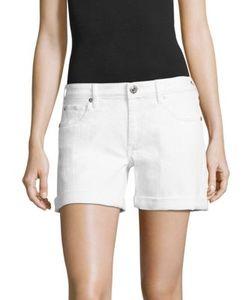 True Religion | Emma Cuffed Denim Bermuda Shorts