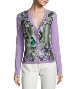 Versace Collection   Long Sleeve Printed Cardigan