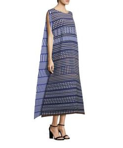 Issey Miyake   Printed Draped Dress