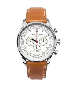 Jack Mason | Nautical Stainless Steel Italian Leather Dial Chronograph Strap Watch