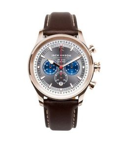 Jack Mason | Nautical Chronograph Leather Strap Watch