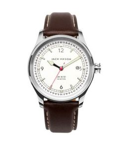 Jack Mason | Nautical Stainless Steel Italian Leather Strap Watch