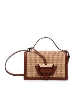 Loewe   Barcelona Raffia Leather Shoulder Bag