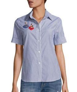 Tanya Taylor | Erie Cotton Embellished Applique Shirt
