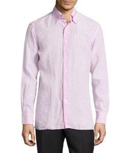 Canali | Regular-Fit Woven Linen Shirt