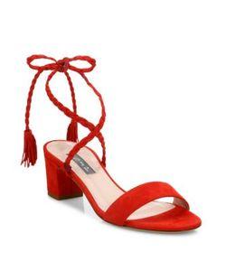 SJP by Sarah Jessica Parker   Elope Suede Lace-Up Sandals