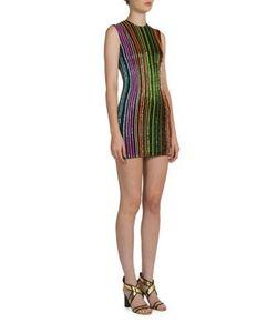Balmain | Beaded Rainbow Mini Dress