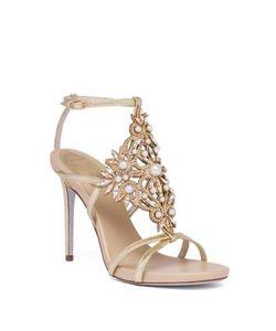 Rene Caovilla | Embellished Snakeskin Sandals