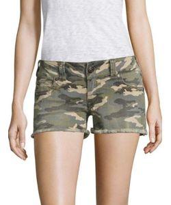 True Religion | Kiera Low-Rise Camo Denim Shorts