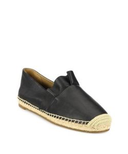 Michael Kors Collection | Laticia Ruffled Leather Espadrilles