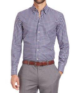 Canali | Checked Cotton Sportshirt