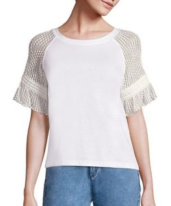 See by Chloé   Lace Sleeve T-Shirt