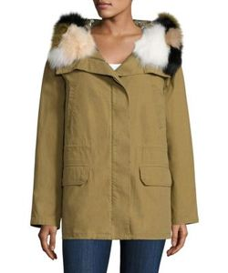 Army Yves Salomon | Fox Fur-Trim Hooded Down Parka